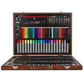 Wooden Art Box Set for Colouring Painting Drawing 167 Piece