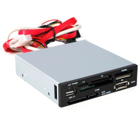 "3.5"" High Speed All-in-One Internal Card Reader with USB 2.0 Port"