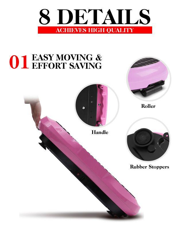 Lcd Screen Genki Body Vibration Plate Machine Led Pink Crazy Sales