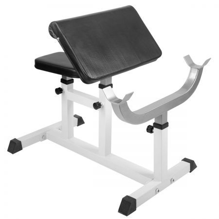 home fitness gym bicep arm press weight curl bench  crazy
