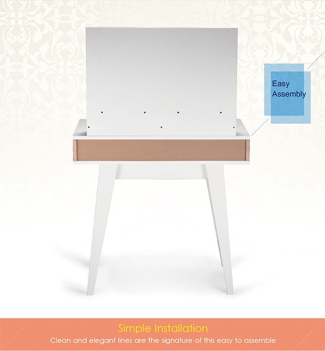 Online Shopping Study Table: 2 In 1 Dressing And Study Table