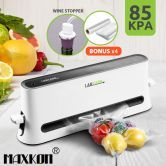 Maxkon Vertical Vacuum Sealer Food Saver-White