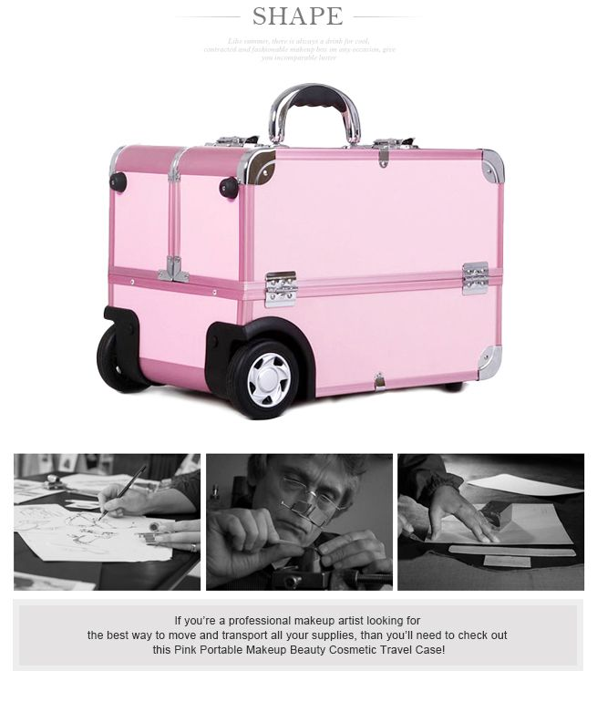 Fashionable Portable Makeup Case Trolley