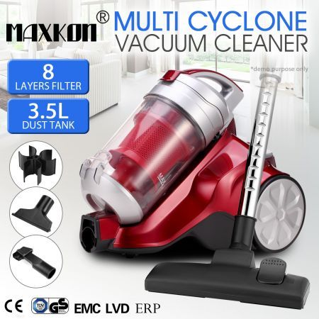 Multi-Cyclonic Bagless Vacuum Cleaner w/ HEPA Filter