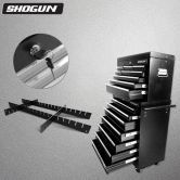 Shogun Black Tool Box with Drawer Divider Adjustable