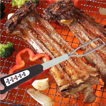 Instant Read Thermometer Barbecue Fork