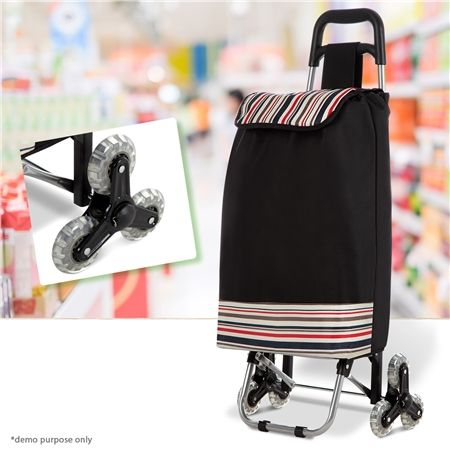 Multi Terrain Enabled  Aluminum  shopping Trolley with Nylon Bag