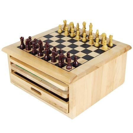 10 In 1 Wooden Chess Board Games Crazy Sales