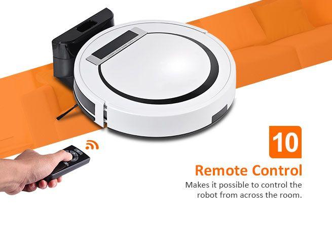 Super Slim 80mm Robotic Vacuum Cleaner High Glossy Led