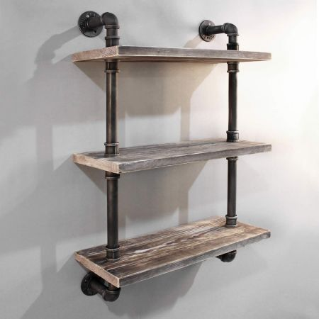 Rustic Industrial Diy Floating Pipe Shelf Crazy Sales