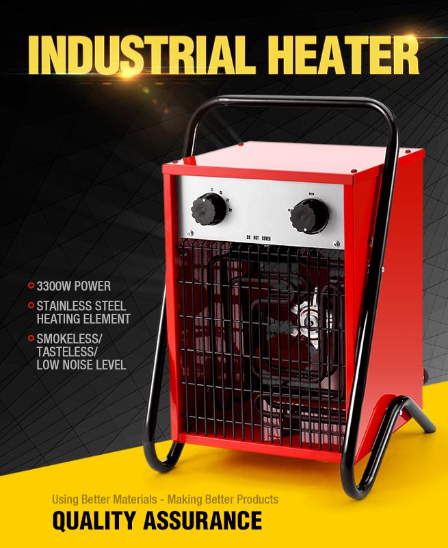 3300w Max Electric Industrial Fan Heater Air Blower