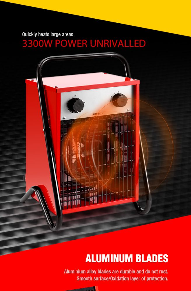 Industrial Blower Heaters : W max electric industrial fan heater air blower