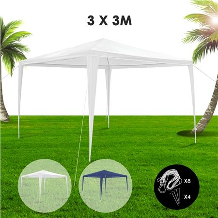 3x3m White Waterproof Outdoor Garden Gazebo