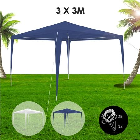 3x3m Blue Waterproof Outdoor Garden Gazebo
