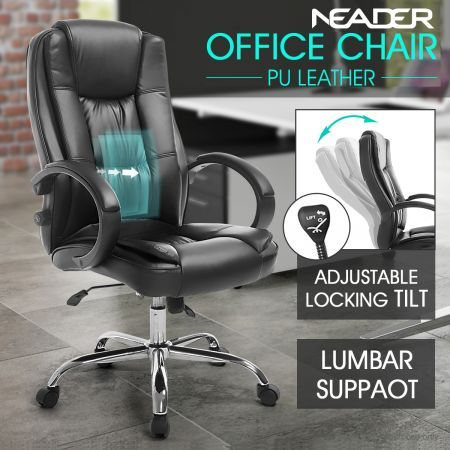 Phenomenal Deluxe Pu Leather Office Computer Chair Lumbar Support Home Gaming Chair Pdpeps Interior Chair Design Pdpepsorg