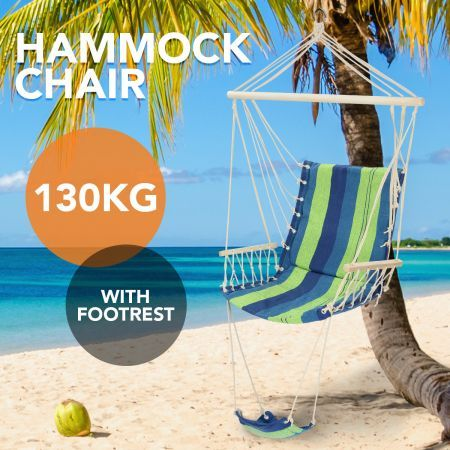 Swinging Hanging Hammock Chair with Footrest