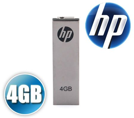 HP Hewlett-Packard 4GB USB Portable Flash Memory Drive High Speed Drive v210w Metal with Clip
