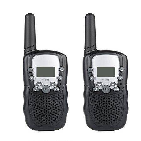 2pcs wireless walkie talkie t 388 lcd 2 way radio crazy sales. Black Bedroom Furniture Sets. Home Design Ideas