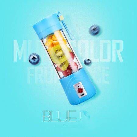 2S Portable USB Electric Juicer Cup Fruit Vegetable Juice Extractor Blender - Blue