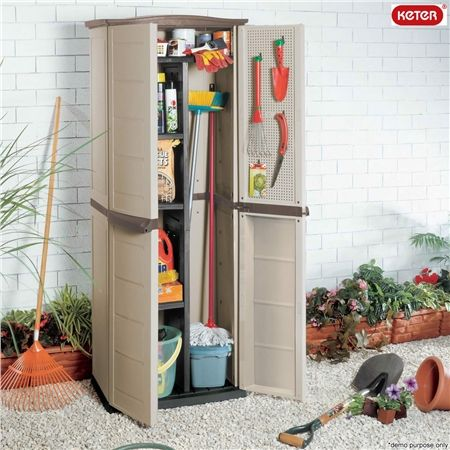 Keter Compact Shed Outdoor Storage Cabinet   Crazy Sales