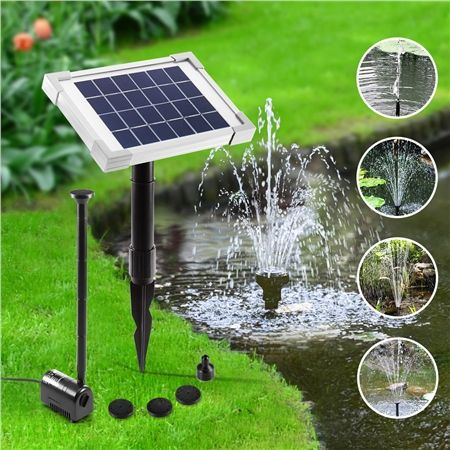 Solar Power Fountain Outdoor Pond Pool Water Pump