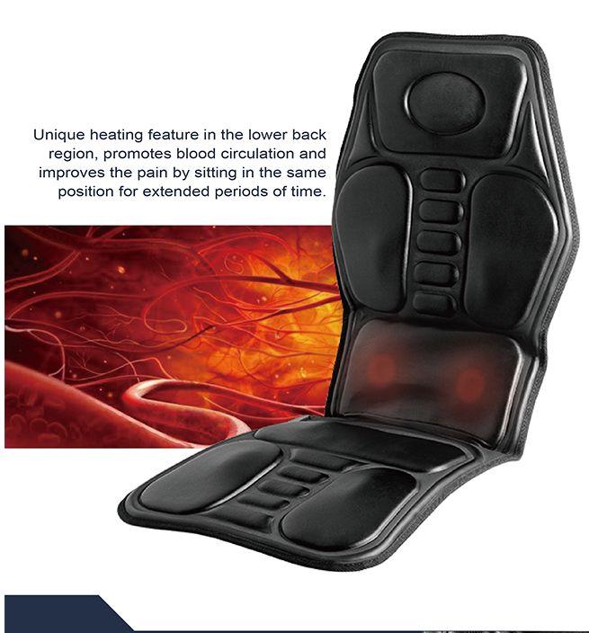 9 motor massage car seat cushion pad reviews. Black Bedroom Furniture Sets. Home Design Ideas