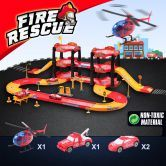Children's Garage Play Set with Toy Cars - Fire Rescue