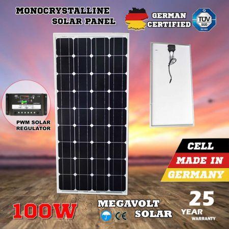 Megavolt 12v 100w Solar Panel Kit With Pwm Solar Regulator