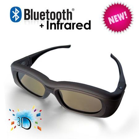 3D Active Glasses with Bluetooth and Infra-Red Technology