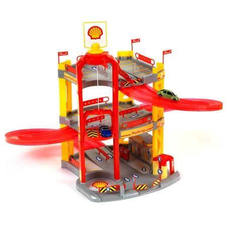 shell toy service station 3 level car park playset crazy sales. Black Bedroom Furniture Sets. Home Design Ideas