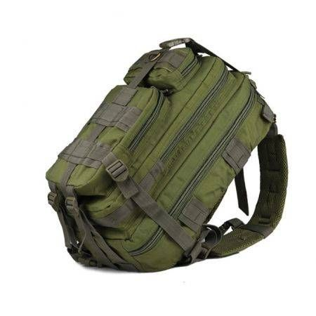 30L Hiking Camping Bag Army Trekking Rucksack Backpack Camo Army Green