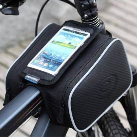 Bicycle Bike Cycling Cell Phone Holder Frame Double Bag Case Pouch Size 5.5''