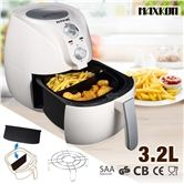 Certified Safe 3.2L Deep Air Fryer with Teflon Coated Basket