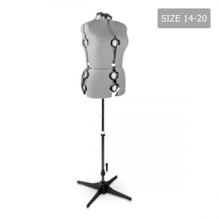 Adjustable Dressmaking Mannequin Size 14-20 - Grey