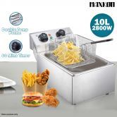 Power Saving Stainless Steel Deep Fryer with Temperature Control