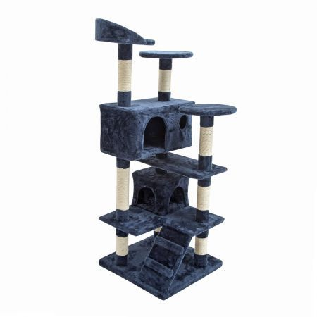 Cat Tree Scratching Post Scratcher Multi Level 132cm Soho - Blue