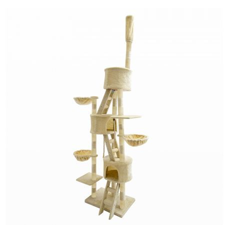 262cm Cat Tree Scratcher PARADISE - BEIGE
