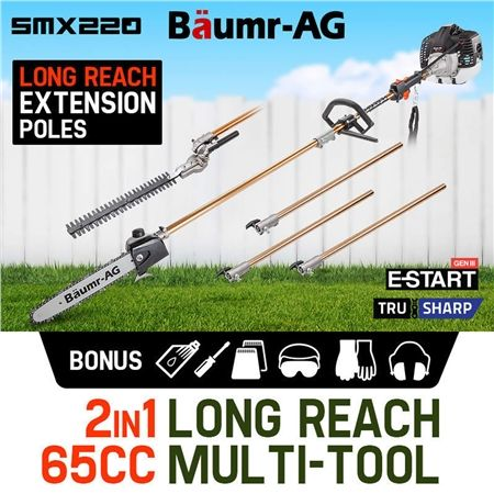 Baumr-AG 65cc Pole Chainsaw Hedge Trimmer Pruner Chain Saw SMX220