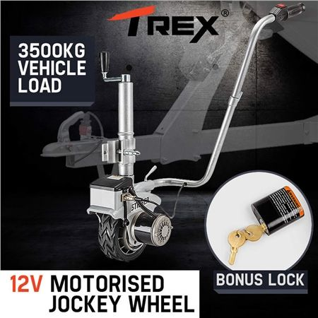 T-REX Striker 12V Motorised Jockey Wheel Caravan Trailer Boat Mover