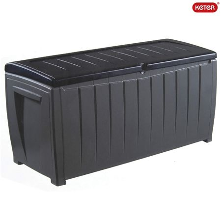 Discount Baby Furniture Keter Novel Outdoor Storage Box - Black and Grey | Crazy Sales
