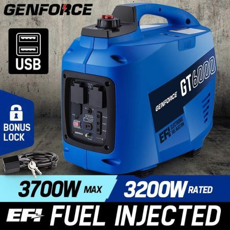 Genforce 3700w Petrol Powered Inverter Generator Gt6000