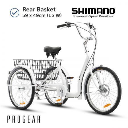 "Progear 20"" Ride Free Adult Trike - White"