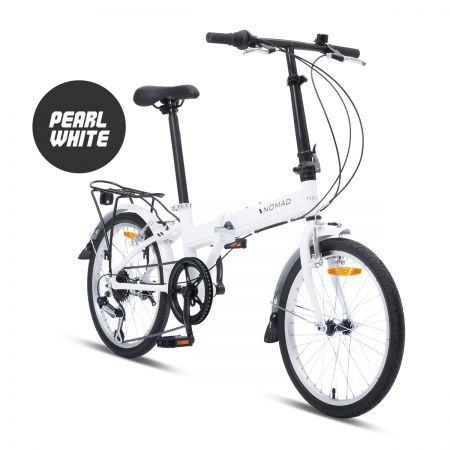 "Progear 20"" Nomad Folding Bike - Pearl White"