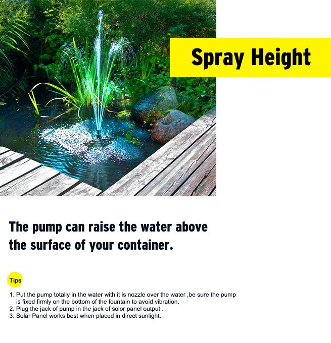 Solar Power Fountain/Pond/Pool Water Feature Pump Kit