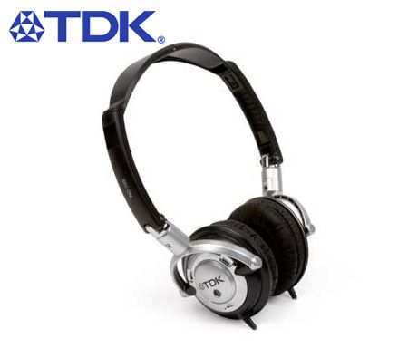 TDK NC-100 Active Noise Cancelling Headphones - Compact and Adjustable