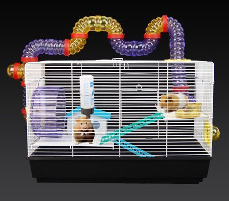 3 Level Pet Hamster / Mouse / Gerbil / Animal Cage with Tunnel