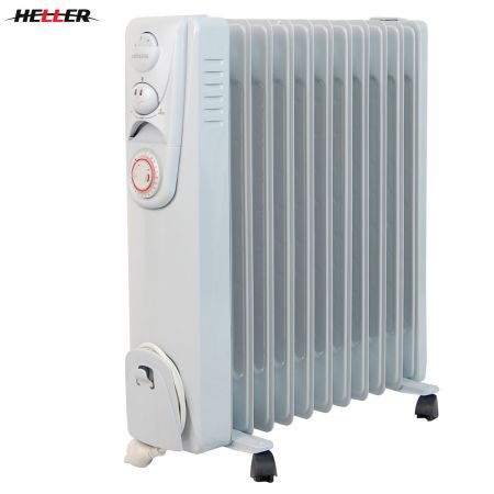 Heller 2400w 11 Fin Column Oil Heater With Tip Over Switch