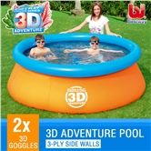 Bestway Above Ground Rectangular Swimming Pool 18ft W