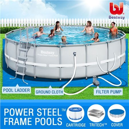 Bestway above ground swimming pool steel pro frame crazy - Bestway steel frame swimming pool ...
