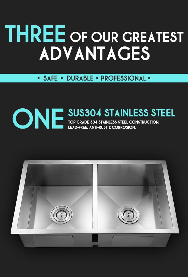 Premium Stainless Steel Kitchen Sink With 5 Sound